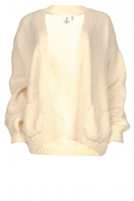 Knit-ted |  Alpaca cardigan Bernelle | naturel