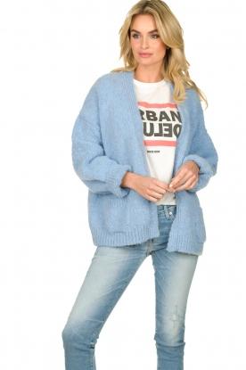 Knit-ted |  Alpaca cardigan Bernelle | blue