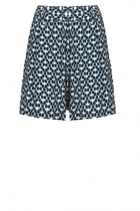 Knit-ted |  Shorts with print Roline | blue