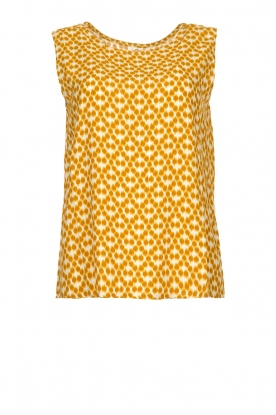 Knit-ted | Sleeveless top with print Rose | gold