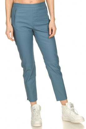 Knit-ted    Faux leather leggings Merle   blue
