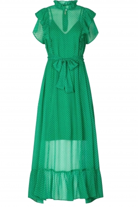 Lolly's Laundry |  Dotted maxi dress Ricca | green