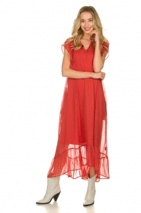 Lolly's Laundry |  Dotted maxi dress Rica | red