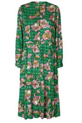 Lolly's Laundry |  Printed midi dress Kaia | green