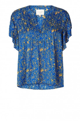 Lolly's Laundry | Top with print Isabel|blue