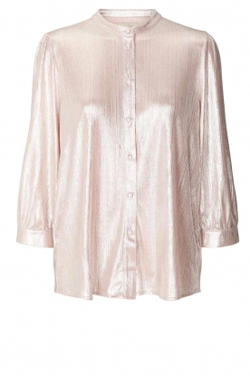 Lolly's Laundry |  Shiny blouse Amalie | nude