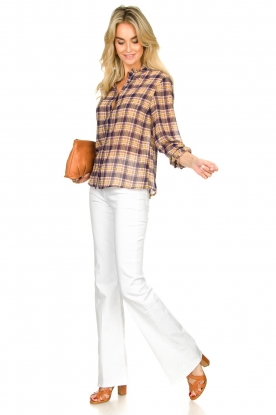 Look Checkered blouse with lurex Melanie