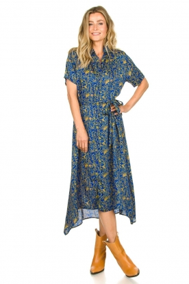 Lolly's Laundry |  Maxi dress with print Blake|blue