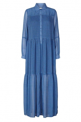 Lolly's Laundry |  Printed maxi dress Penny | blue