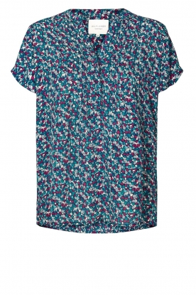 Lolly's Laundry | Printed top Heather | blue