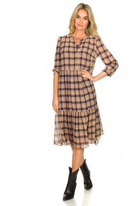 Look Checkered dress with lurex Naja