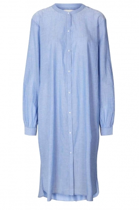 Lolly's Laundry | Cotton shirt dress Basic | blue