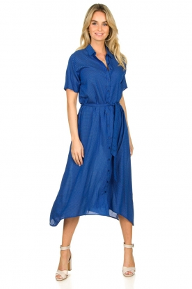 Lolly's Laundry |  Midi dress with dot print Blake | blue