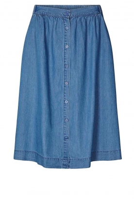 Lolly's Laundry | Buttoned cotton skirt Marley | blue