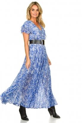 Patrizia Pepe | Maxi dress with print Antholia | blue