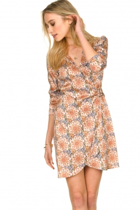 Patrizia Pepe |  Printed wrap dress Kalista | brown