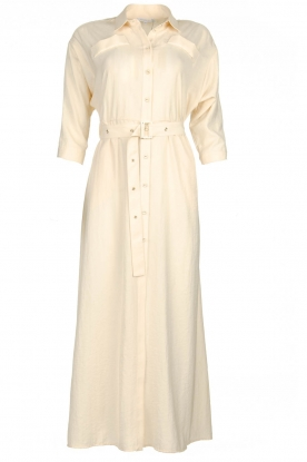 Patrizia Pepe |  Buttoned maxi dress Safari | off-white