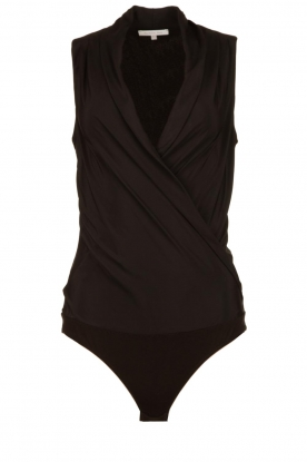 Patrizia Pepe | Body top with V-neck Kyra | black