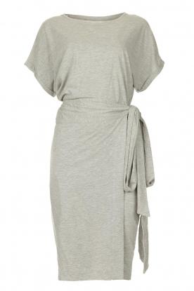 Les Favorites |   Solid wrap dress Jolie | grey