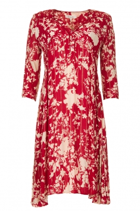Les Favorites |  Midi dress with flower print | red