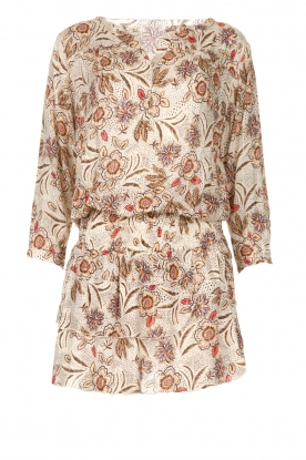 Les Favorites | Jurk met bloemenprint Flori | beige