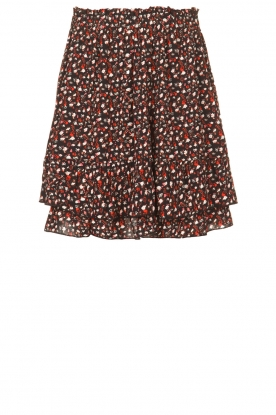 Les Favorites |  Mini skirt with floral print | black