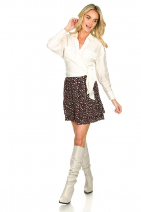 Look Mini skirt with floral print