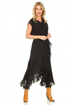 Les Favorites |   wrap skirt with ruffles | black