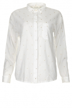 Les Favorites |  Blouse with golden dots | white
