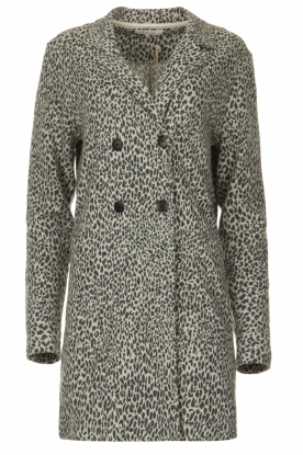 Les Favorites |  Cardigan with leopard print | animal
