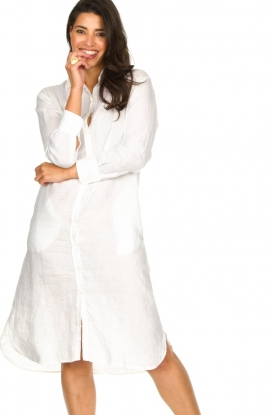 Blaumax |  Linen dress Maryann | white