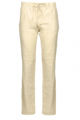 Blaumax |  Low waist linen pants Beach | beige