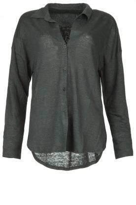 Blaumax |  Linen blouse Maddy | black