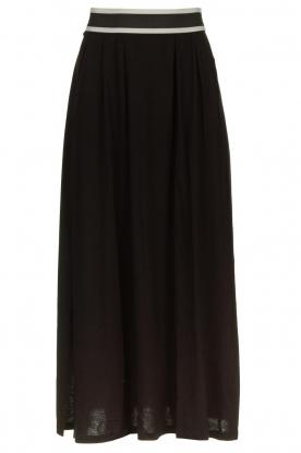 Blaumax |  Maxi skirt with elastic waistband Tigirs | black