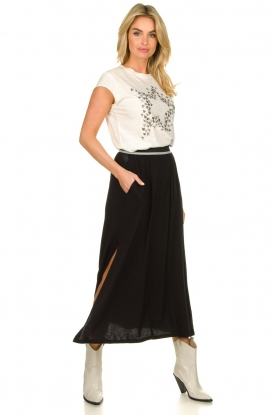Blaumax |  Maxi skirt with elastic waistband Tigirs | black