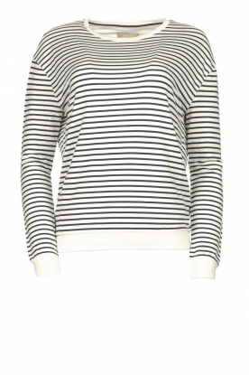 Blaumax |  Striped sweater Albany | white