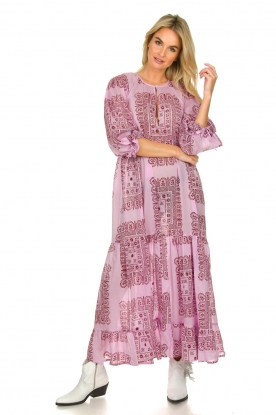 Antik Batik |  cotton dress with print Nalii | pink