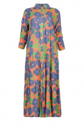 Genesis |  Floral maxi dress Anju | red