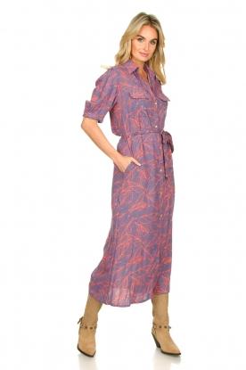 Genesis |  Buttoned maxi dress Kira | blue