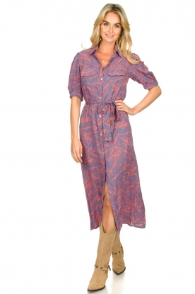 Genesis |  Buttoned maxi dress Kira | print