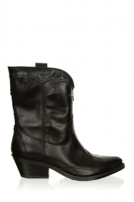 Janet & Janet |  Leather cowboy boots Atena | black
