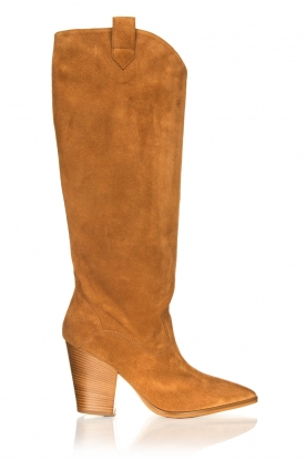 Janet & Janet |  Suede boots Cioio | camel