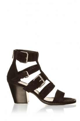 Janet & Janet | Suede buckle sandals Roccia | black