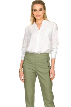 Fracomina |  Linen blouse Mina | white