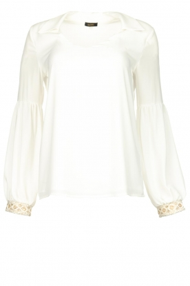 Fracomina |  Luxe top Antique | white