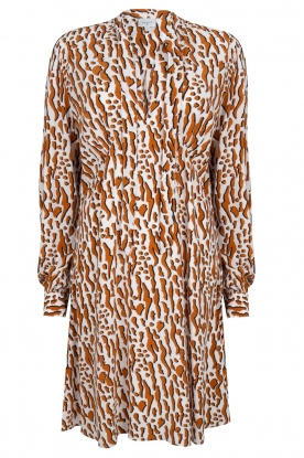 Dante 6 |  Printed dress Rousset | brown