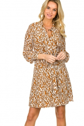 Dante 6 |  Printed dress Rousset | brown