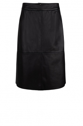 Dante 6 |  Leather skirt Pulson | black