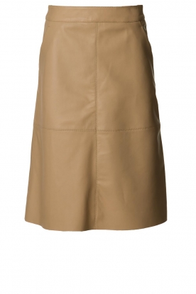 Dante 6 |  Leather skirt Pulson | naturel