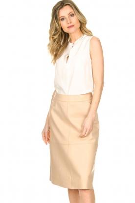 Dante 6 |  Leather skirt Pulson | naturel